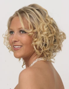 Prom curly style