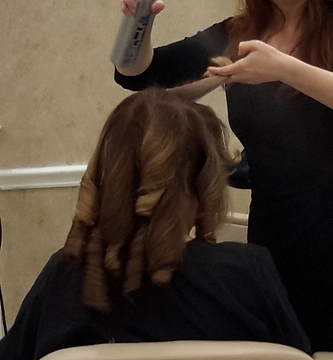 hair styling lesson for clients