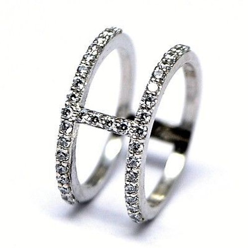 Ring clustered design with Zircon in 925 Sterling Silver Ring for Women