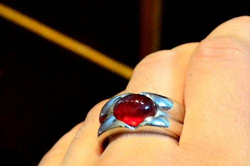Natural Red Ruby gemstone custom design 925 Sterling Silver Bold Statement Ring
