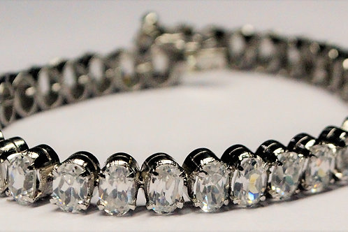 Exclusive 925 Sterling Silver Good Quality Natural White Topaz Bracelet
