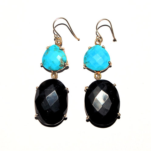 Natural Gemstone Gorgeous Earrings in 925 Sterling Silver