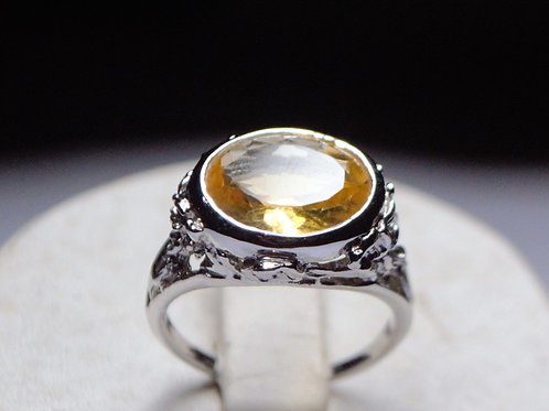 Exclusive 925 Sterling Silver Quality Natural Citrine Unisex Ring