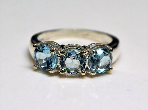 Exclusive 925 Sterling Silver Good Quality Blue Topaz Women Ring