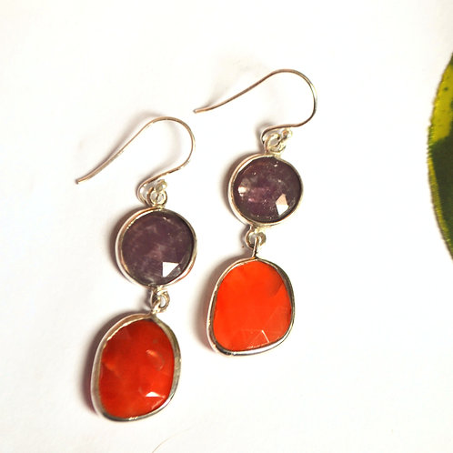 Natural Gemstone Alluring Earrings in 925 Sterling Silver