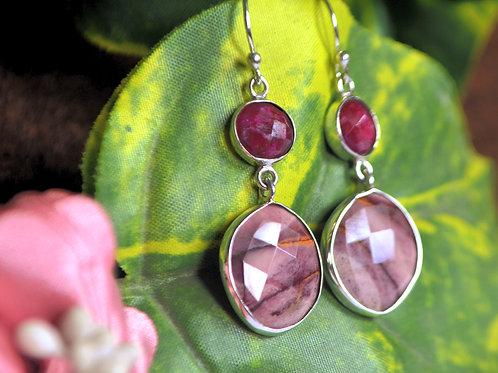 Natural Gemstone Alluring Earrings in 925 Sterling Silver