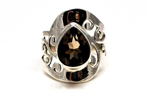 Good Quality Smokey Quartz Beautiful Ring in 925 Sterling Silver