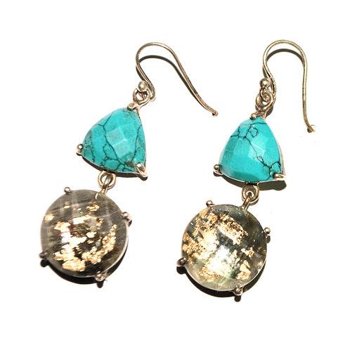 Natural Gemstone Earrings in 925 Sterling Silver