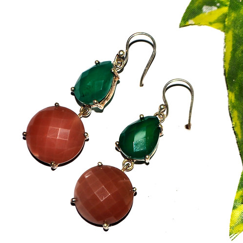 Natural Gemstone Casual Wear Earrings in 925 Sterling Silver