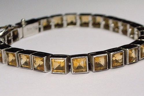 Natural Citrine Bracelet in 925 Sterling Silver