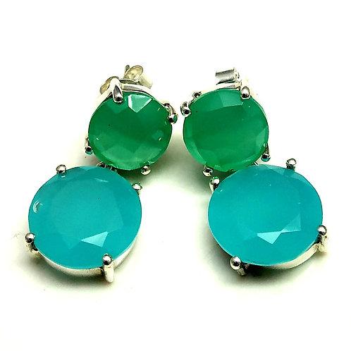 Elegant Chalcedony Earrings in 925 Sterling Silver