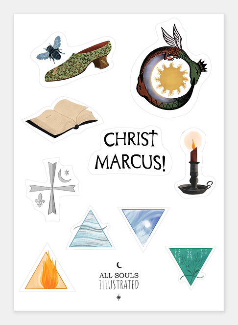 All Souls Symbols Stickers Set