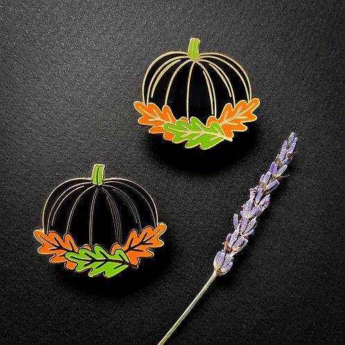 Black Pumpkin Enamel Pin