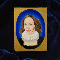 Personal Commission 16th century inspired portrait - acrylic on canvas