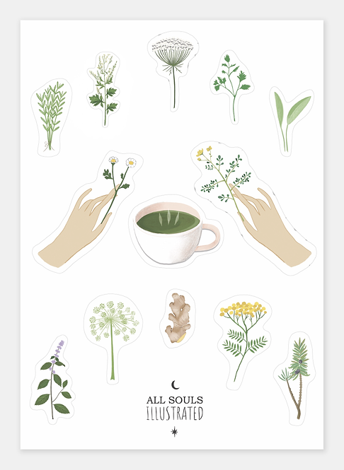 Tea Stickers Set