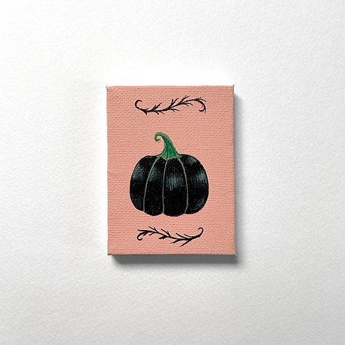Mini Black Pumpkin painting