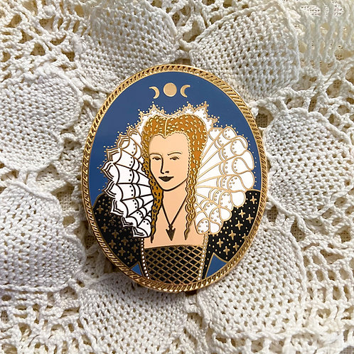 Queen of Stars and Moon enamel pin