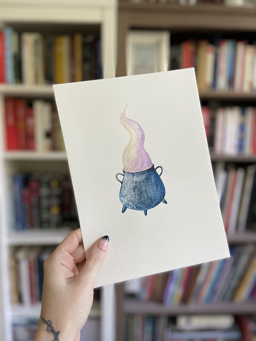 Golden Magic, Pink Energy Illustration