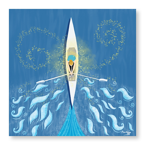 Diana rowing  - magic water