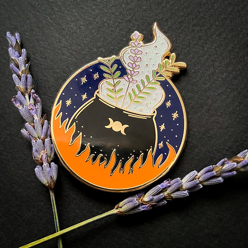 Herbal Magic Cauldron Enamel Pin