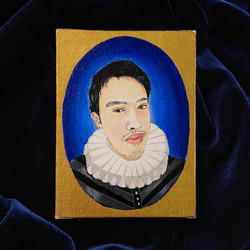 Personal commision 16th century inspired portrait - acrylic on canvas