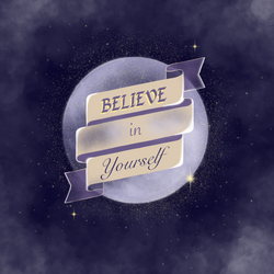 Believe in yourself digital illustration