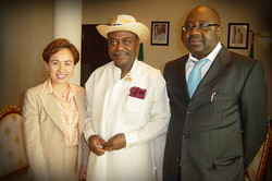 Meeting with the Governor, Nigeria