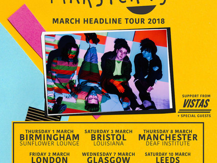 MARCH 2018 HEADLINE TOUR - SUPPORTS ANNOUNCED