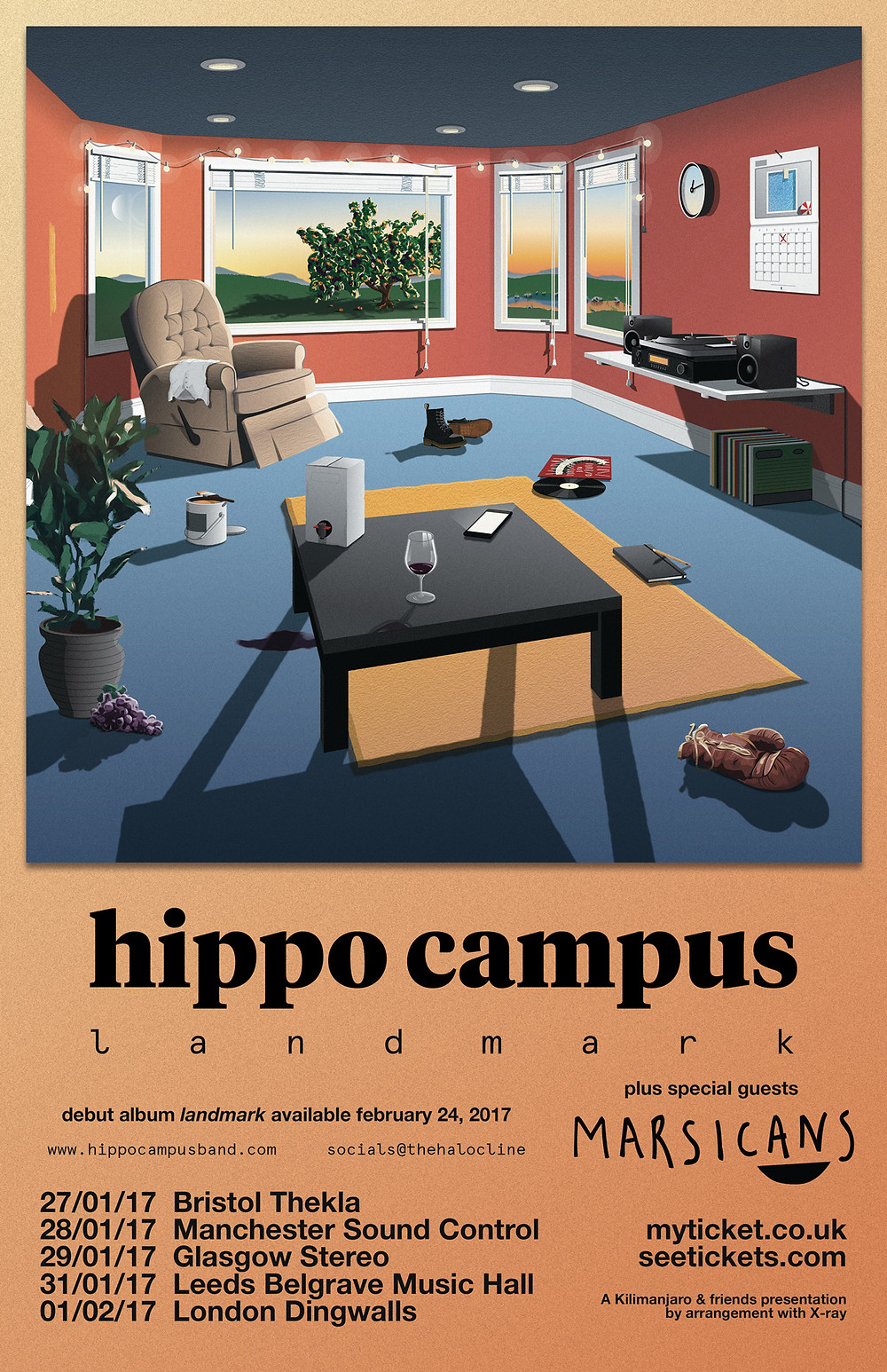 Hippo Campus UK tour with Marsicans