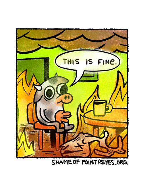 """""""This is Fine"""" Shame of Point Reyes Sticker"""