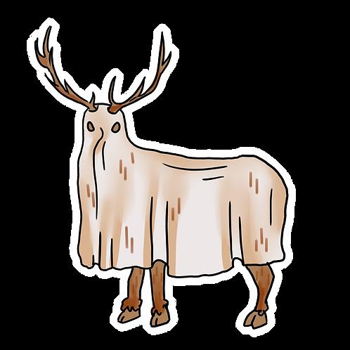 Tule Elk Ghost Sticker