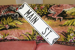Prize Main Street Sign