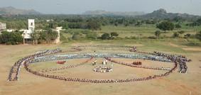 Human Pongal Pot Gathering