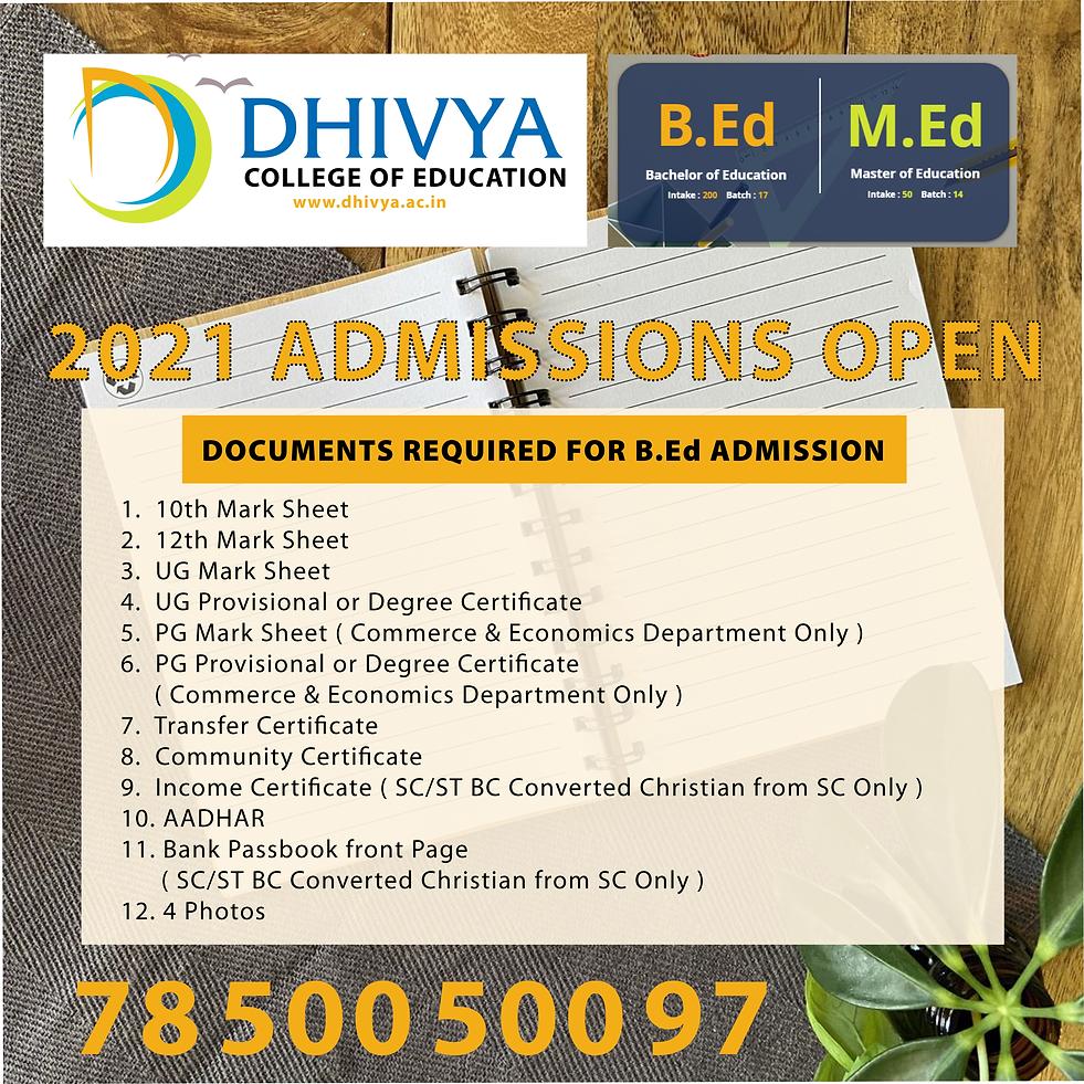 B.Ed Admission 2021.png