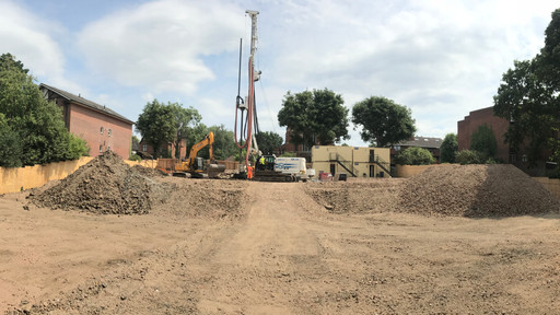 Piling underway at Holden Road, 34 flats coming soon