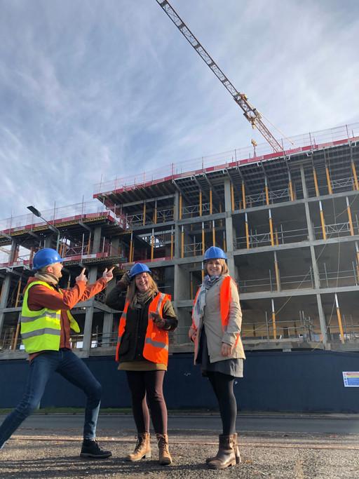 JSA take a visit to view progress at Tayfen Road!