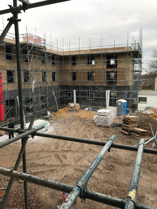 Brickwork finished at development of 29 flats in Thetford