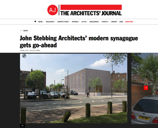 Look who's featured on the Architects' Journal website!