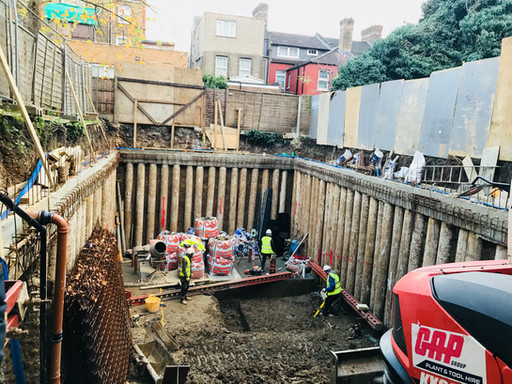 Deep excavations and temporary works at Northfield Road