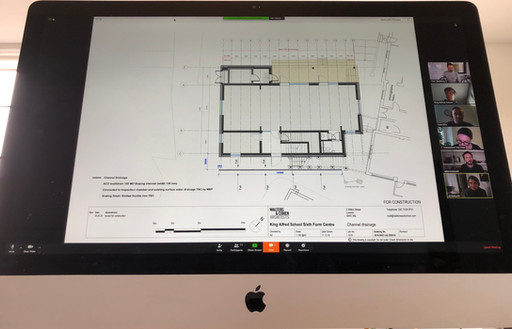 #VirtualMeeting #ScreenShare #teamwork at King Alfred School; very productive and far less #CO2 ...!