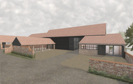 Listed building application submitted:  sympathetic adaptation of a Suffolk farmstead