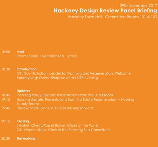 JSA at Hackney Design Review Panel event