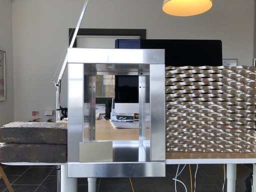 Productive meeting this morning to agree folded aluminum window surround details for windows at #the