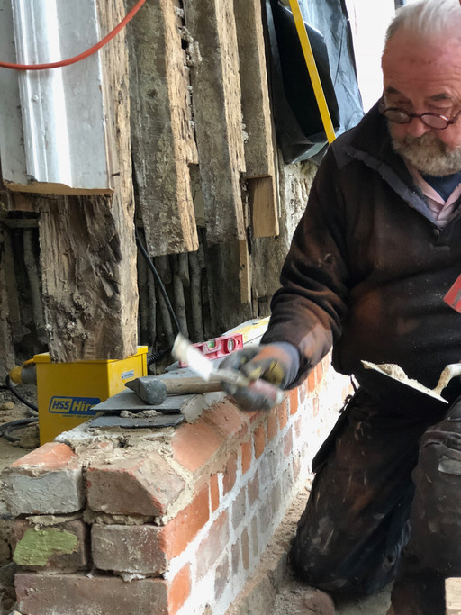 Timber frame repairs to grade II listed property under supervision of JSA