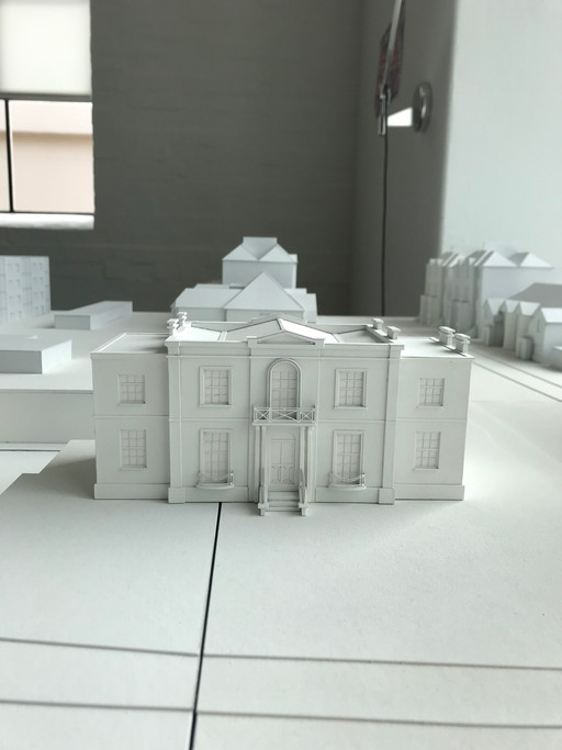 Context model of St Mary's Lodge in Hackney ready for massing design charrette