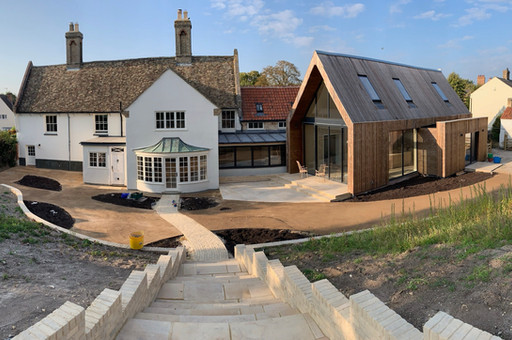 First photo of our extension and refurbishment of a #ListedBuilding in #EastCambridgeshire