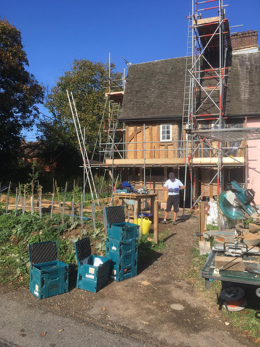 Steady progress as historic timber frame repairs almost complete