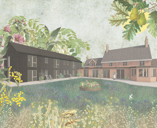 Lovely sketch of our proposed extension to a rural well-being clinic...