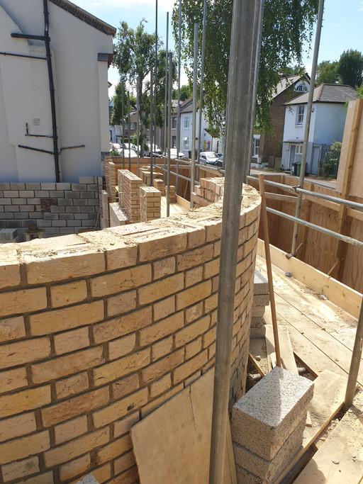 Curved brickwork corner block coming along nicely in #Lewisham #SE23