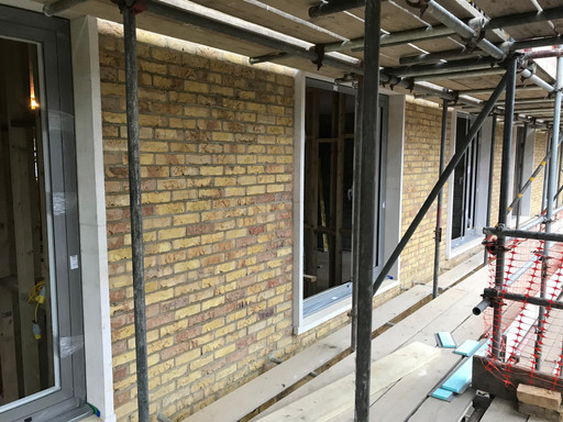 Windows going in at Lordship Road